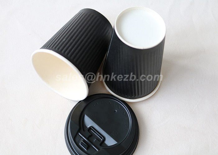 8oz - 16oz Black Paper Coffee Cups , Paper To Go Coffee Cups Eco Friendly